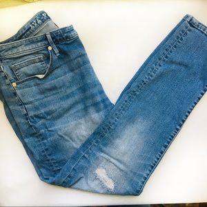 AVA & VIV Skinny Moulant Distressed Jeans